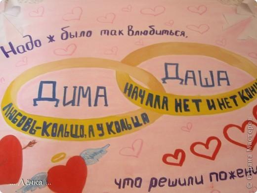 Как нарисовать плакаты с годовщиной свадьбы своими руками 457